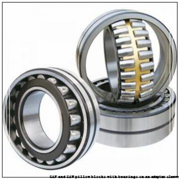 skf SSAFS 22515 x 2.3/8 SAF and SAW pillow blocks with bearings on an adapter sleeve